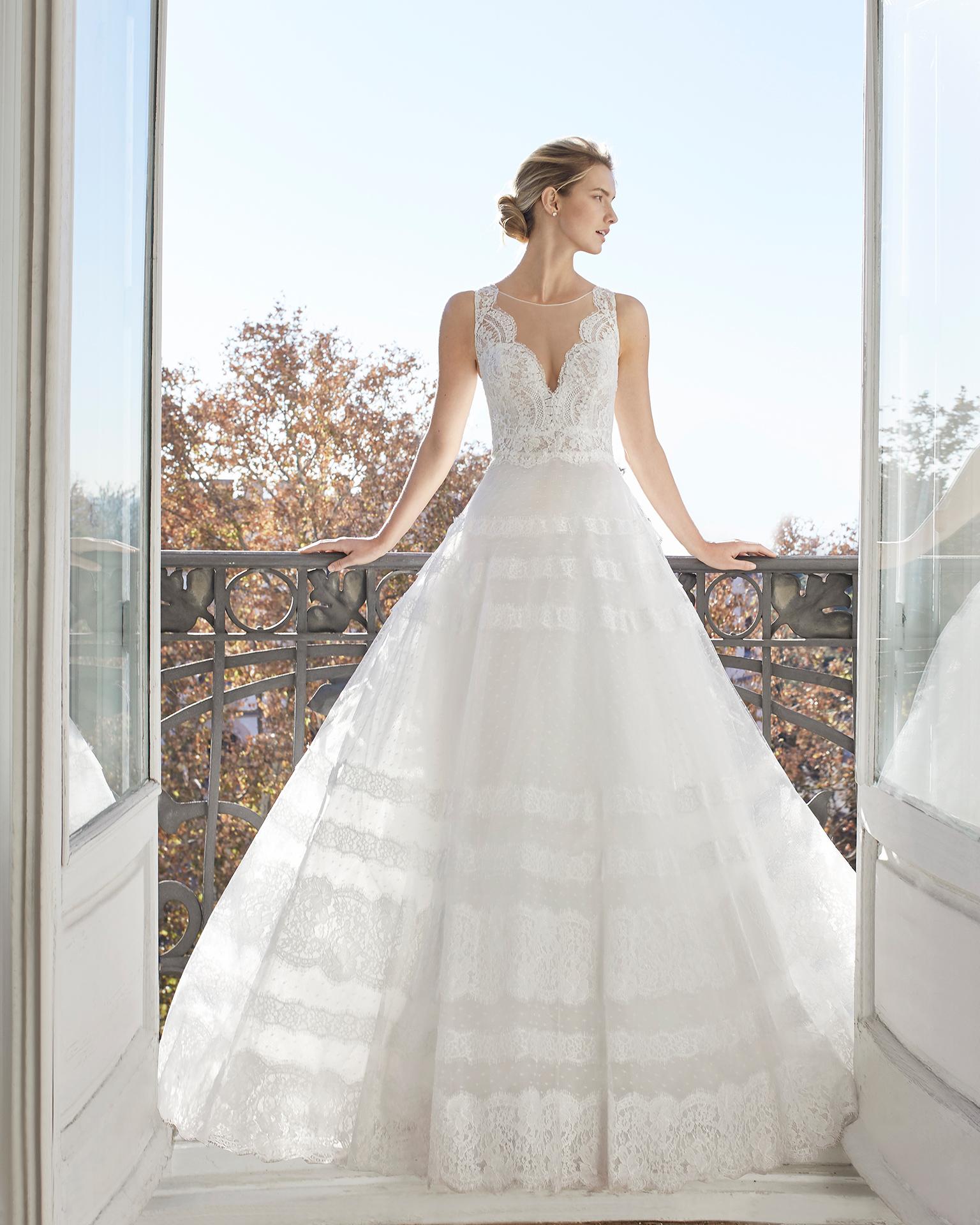 dc58692b Enya. Luce este delicado vestido de novia ...