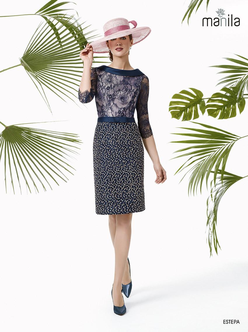 0b4de35dd Estepa. 410€. Elegante y sofisticado vestido para madrina ...